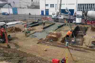 Setting out-Mass concrete foundations and bolt groups
